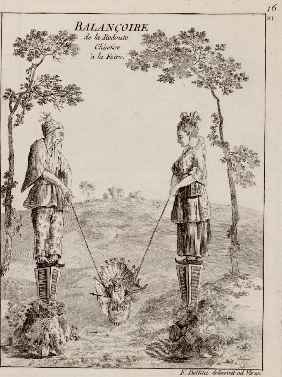 (Deel van) Onziéme Cahier des jardins Anglo-Anglais à la mode. a Paris Chez LE ROUGE, 1784, plaat 16