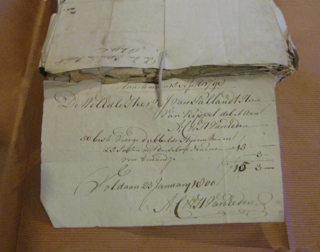 Kasboek aantekening