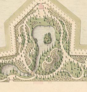 Detail ontwerp Prinsentuin, De Vries, 1820